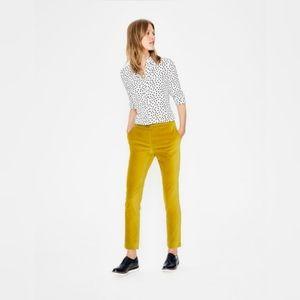 NWT Boden Velvet Straight Leg Trousers Yellow 16L